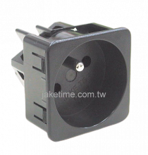 1U size 45mm*45mm France Outlet Socket