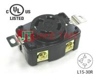 NEMA L15-30R Locking Type Receptacle, get UL/cUL Approved, 3Ø/4W, 250V AC/30A Current Rating, with PC Body