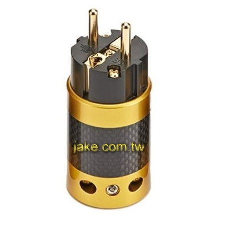 24K Gold-plated Audio Grade AC Power Schuko Plug