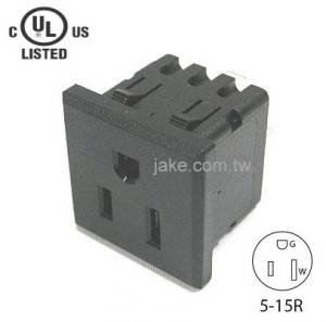 US Standard Power Socket 5-15R AC 125V 15A , PA66 Body Material