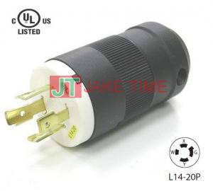 NEMA L14-20P Locking Type Plug, get UL/cUL Approved, 3P4W, 125/250V AC/20A Current Rating, with PC Body
