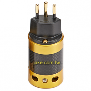 24K Gold-plated Audio Grade AC Power Swiss Plug